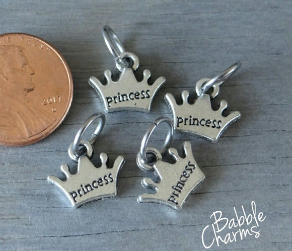 12 pc Princess Crown charm, Crown, princess crown, wholesale charm, alloy charm