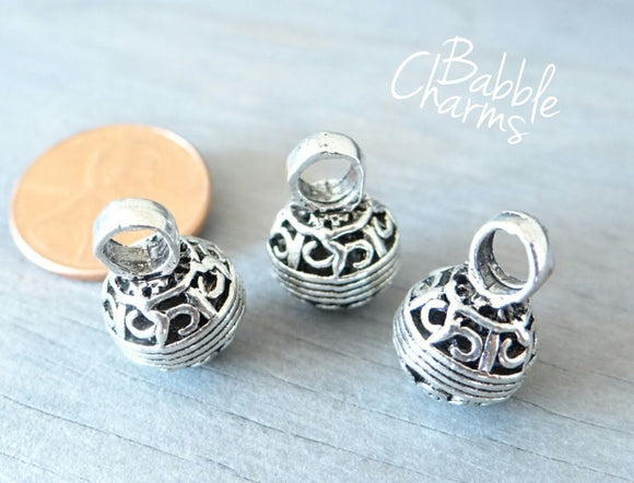 12 pc Decorative ball charm, ball charm, cute ball charm, wholesale charm, alloy charm