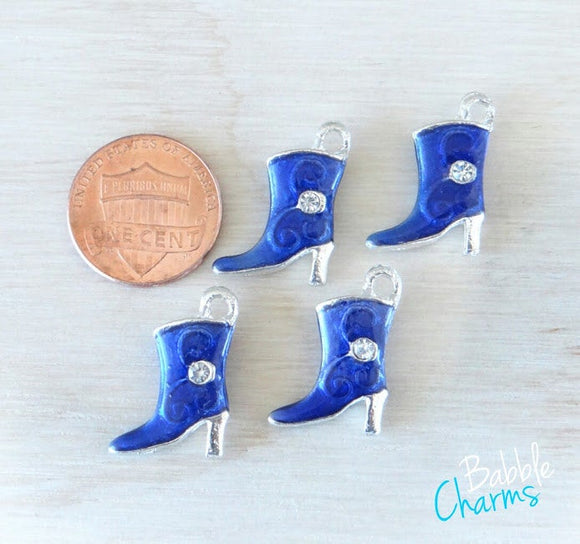 12 pc Cowboy Boot Charm, blue Cowboy boot, Cowgirl Boot Charm, Charms, wholesale charm