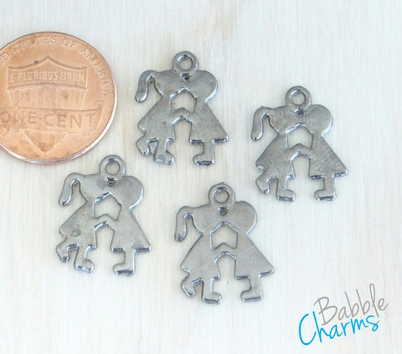 12 pc Kissing charm, kissing, boy and girl kissing charm,stainless steel charm, charm, charms