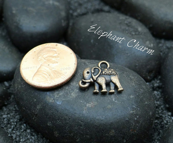12 pc Elephant Charm, elephant, Charms, wholesale charm, bronze charm