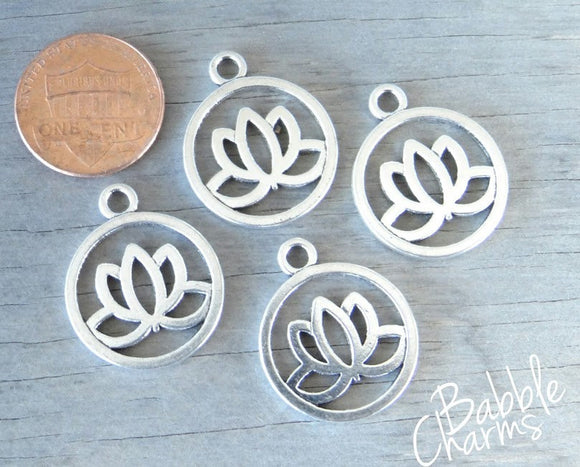Lotus , Lotus Flower charm, flower charms. Alloy charm ,very high quality.Perfect for jewery making and other DIY projects