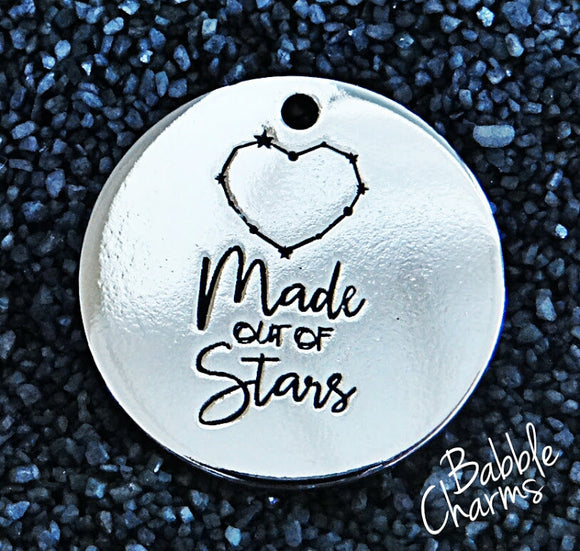 Made out of stars, star charm, Alloy charm 20mm very high quality..Perfect for jewery making and other DIY projects #16