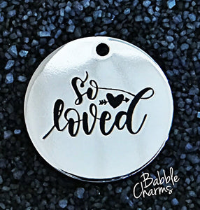 So loved, so loved charm, Alloy charm 20mm very high quality..Perfect for jewery making and other DIY projects #29