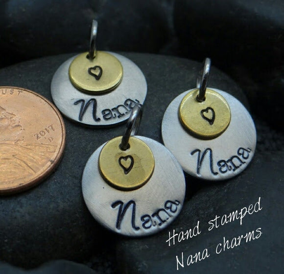 Nana, Nana charm, steel charm 15mm very high quality..Perfect for jewery making and other DIY projects