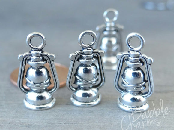 12 pc Lantern charm, lanter, camping lantern charm. Alloy charm, very high quality.Perfect for jewery making and other DIY projects