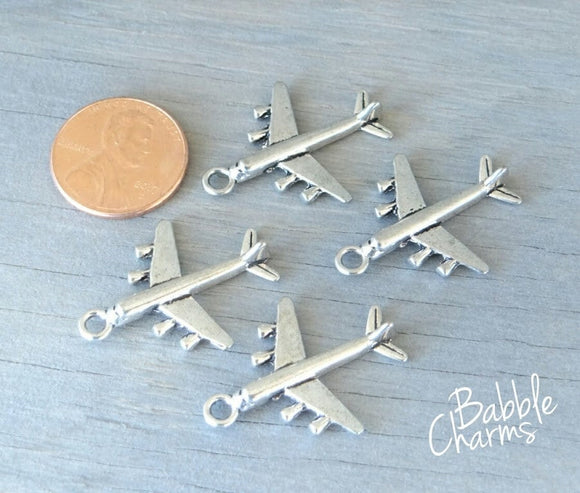 12 pc Air plane charm, plane Charm, plane, Charms, wholesale charm, alloy charm