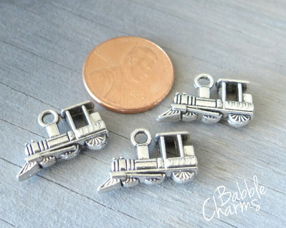 12 pc Train charm, train, Charms, wholesale charm, alloy charm