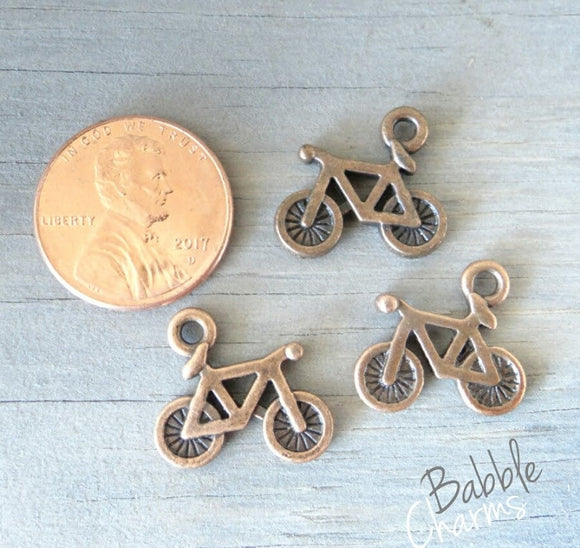 12 pc Bicycle charm, cute bicycle Charm, bike, Charms, wholesale charm, alloy charm