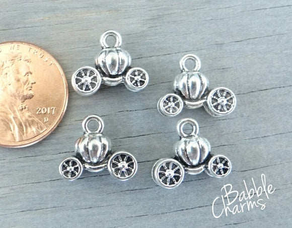 12 pc Cinderella Carraige charm, Carriage Charm, carriage, Charms, wholesale charm, alloy charm
