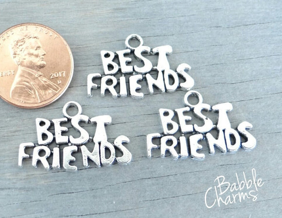 12 pc Best Friends charm, best friends, friendship charm, Charms, wholesale charm, alloy charm