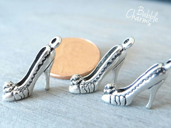 12 pc High Heels charm, high heels, slipper, shoe, Charm, Charms, wholesale charm, alloy charm