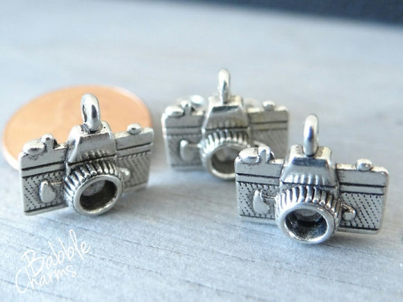 12 pc Camera charm , camera, camera charm, Charm, Charms, wholesale charm, alloy charm