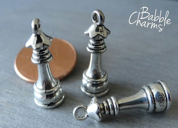 12 pc Queen chess piece charm, chess, queen, chess piece charm, wholesale charm, alloy charm