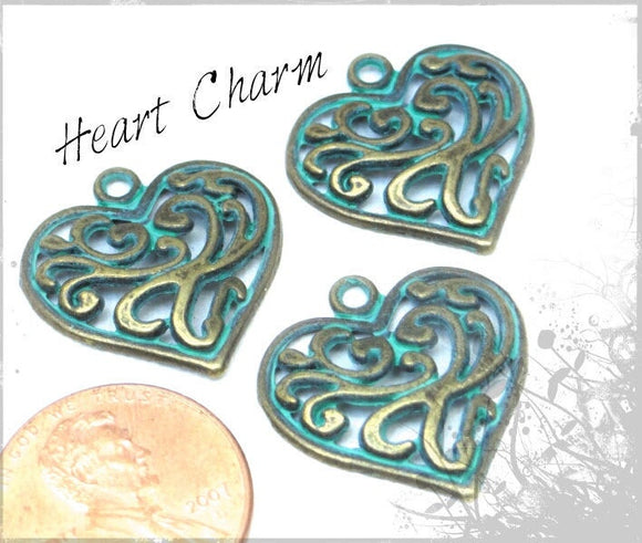12 pc Heart charm, heart charm, heart. Alloy charm, very high quality.Perfect for jewery making and other DIY projects