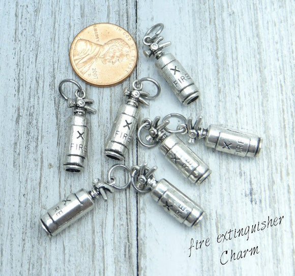 12 pc Fire extingisher charm, fire, fire extingisher charms. Alloy charm, very high quality.Perfect for jewery making and other DIY projects