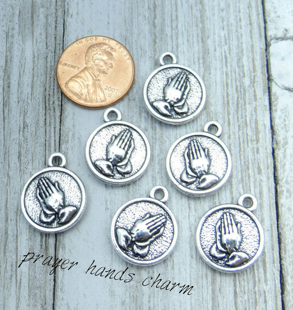Praying hands charm, prayer charms. Alloy charm, very high quality.Perfect for jewery making and other DIY projects