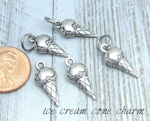 12 pc Ice Cream charm, ice cream charms. Alloy charm, very high quality.Perfect for jewery making and other DIY projects