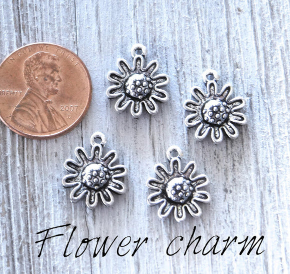 Flower charm, flower charms. Alloy charm ,very high quality.Perfect for jewery making and other DIY projects