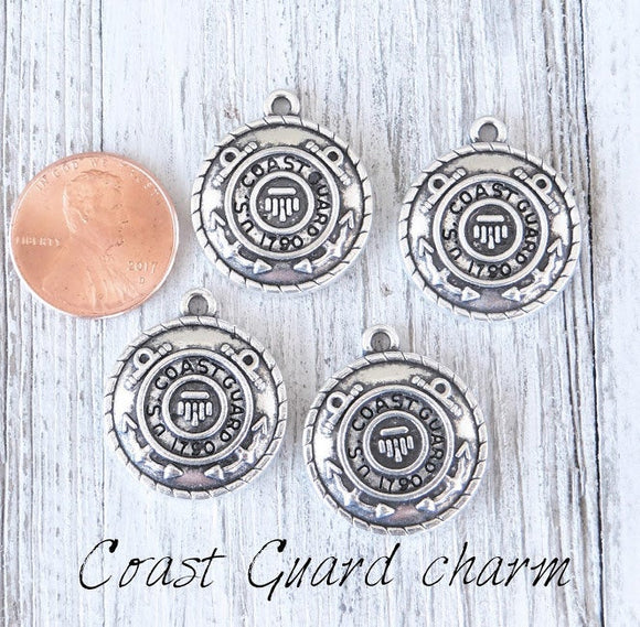 12 pc Coast Guard charm, Coast Guard, military charm. Alloy charm, very high quality.Perfect for jewery making and other DIY projects