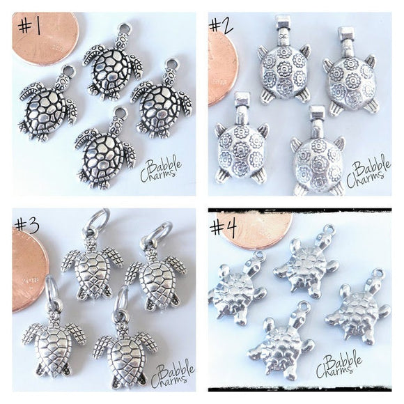 12 pc Turtle charms, turtle, sea turtle, Charms, wholesale charm, charm