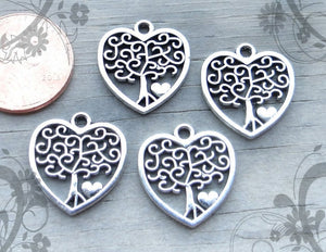12 pc Family Tree charm, Tree charms. Alloy charm ,very high quality.Perfect for jewery making and other DIY projects