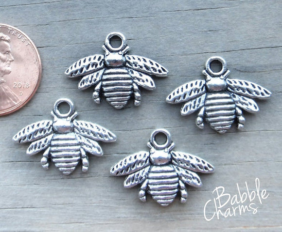 12 pc Bee Charm, bee charms, bee charm, wholesale charm, charm, insect charm
