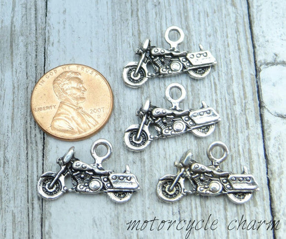 12 pc Motorcycle charm, motorcycle, Charms, wholesale charm, alloy charm