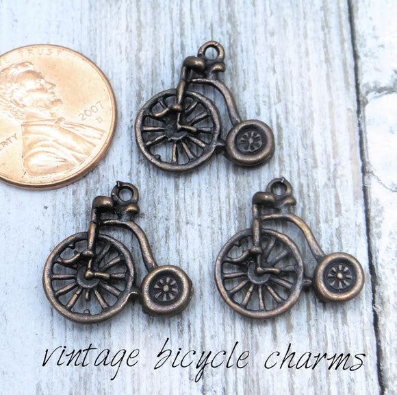 12 pc Bicycle charm, bicycle Charm, bike, Charms, wholesale charm, alloy charm