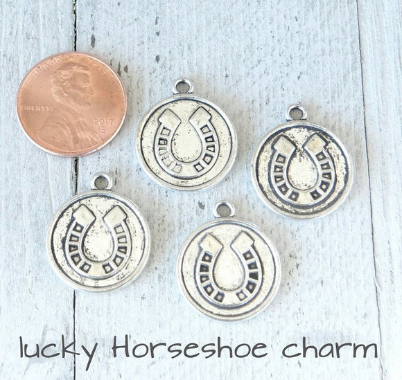 12 pc Lucky horseshoe charm, lucky. lucky charms, Alloy charm,very high quality.Perfect for jewery making and other DIY projects