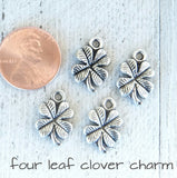 12 pc Lucky clover charm, lucky. lucky charms, Alloy charm,very high quality.Perfect for jewery making and other DIY projects