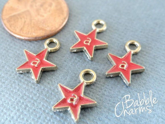 12 pc Star, star charm, star charms. Enamel star, Alloy charm ,very high quality.Perfect for jewery making and other DIY projects
