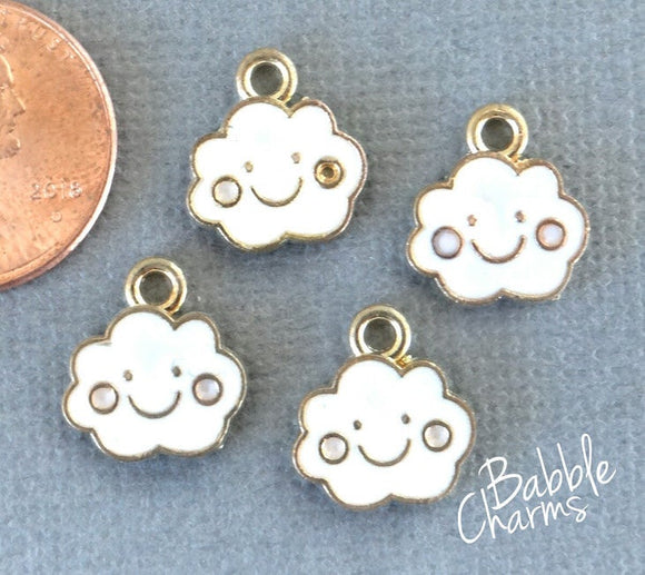 12 pc Cloud charm, cloud, cloud charm, enamel charm, Charms, wholesale charm, charm