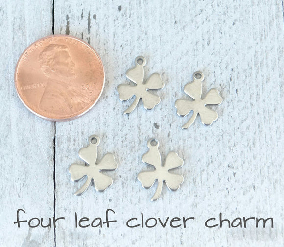 12 pc Lucky charm, lucky. lucky charms, stainless steel charm,very high quality.Perfect for jewery making and other DIY projects