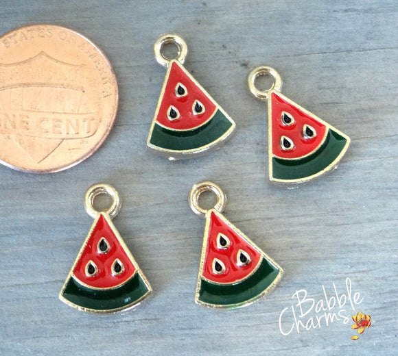 12 pc Watermelon, fruit charm, watermelon charm, Alloy charm very high quality..Perfect for jewery making and other DIY projects