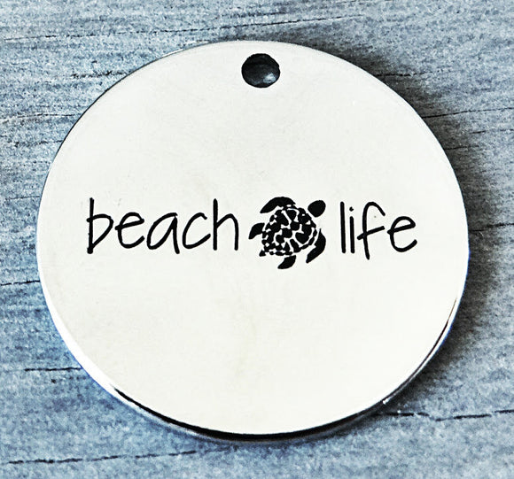 Beach life, beach life charm, Beach charm, Alloy charm 20mm very high quality..Perfect for DIY projects #91