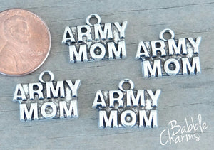 12 pc Army Mom charm, army mom, military mom charm. Alloy charm, very high quality.Perfect for jewery making and other DIY projects