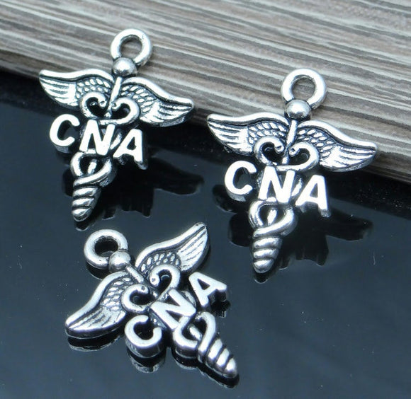12 pc CNA charm, nursing, CNA, Charms, wholesale charm, alloy charm