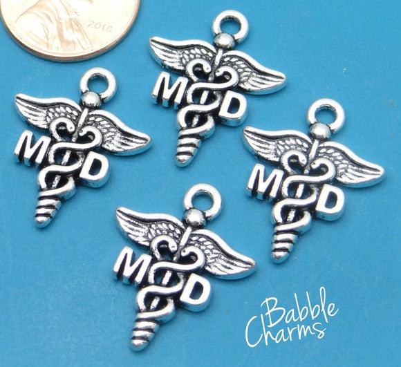 12 pc MD charm, Doctor charm, MD, Charms, wholesale charm, alloy charm