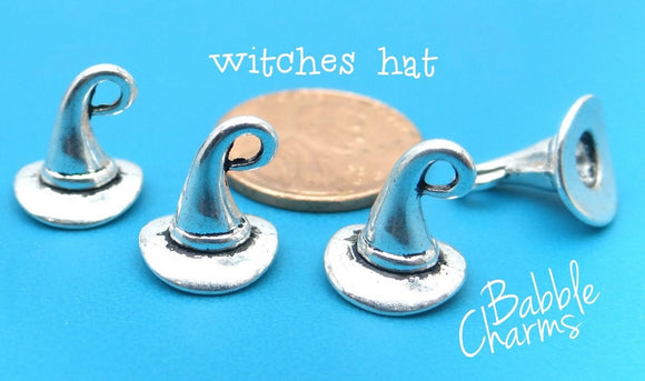 12 pc Witch hat ,witch hat charm, witch hat charms, witch, wholesale charm, alloy charm