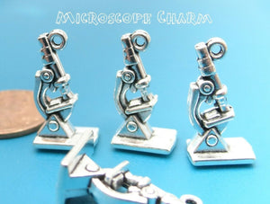 Microscope, microscope charm,  science microscope charm, Alloy charm very high quality..Perfect for jewery making and other DIY projects