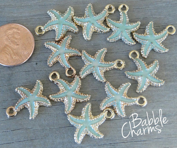 Starfish charm, starfish, sea star, Alloy charm, very high quality.Perfect for jewery making and other DIY projects