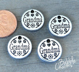 12 pc Grandma charm, grandma, love my grandma. Alloy charm, very high quality.Perfect for jewery making and other DIY projects