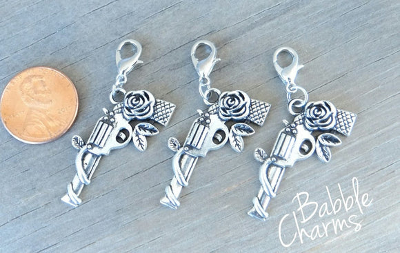 12 pc Pistol charm, pistol, gun charm. Alloy charm, very high quality.Perfect for jewery making and other DIY projects