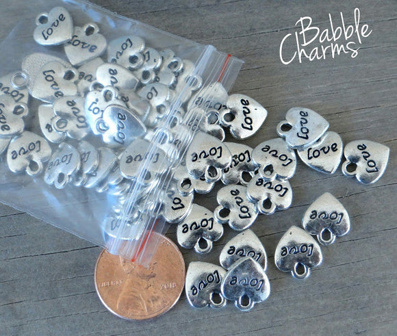 12 pc Heart charm, heart charm, love charm, love,  very high quality.Perfect for jewery making and other DIY projects