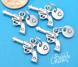 12 pc Gun Charm, Cowboy Gun Charm, six shooter, wester gun charm, Charms, wholesale charm