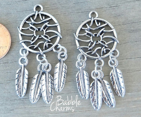 Dream Catcher charm, Dream catcher. Alloy charm ,very high quality.Perfect for jewery making and other DIY projects