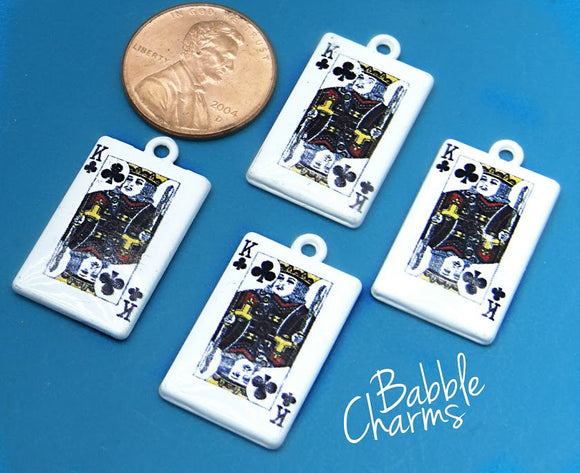 12 pc Card charm, King, king card, playing card charm, Charms, wholesale charm, alloy charm