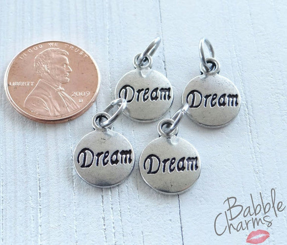 12 pc Dream charm, dream, dreaming charm, Charms, wholesale charm, alloy charm