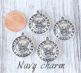 12 pc Navy charm, Navy, military charm. Alloy charm, very high quality.Perfect for jewery making and other DIY projects